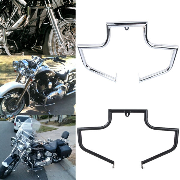 Motorcycle Mustache Highway Engine Guard Crash Bar For Harley Softail 2000-2017