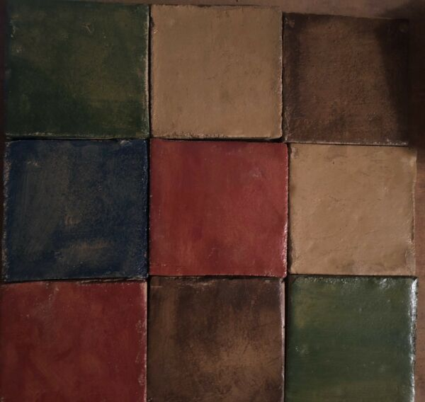 4x4 Arts and Crafts Fireplace Kitchen Wall Tile Multi Color Hand Made