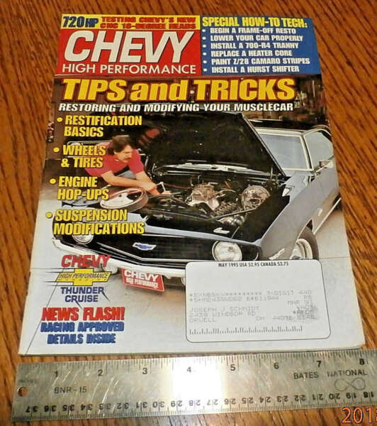 Chevy High Performance Magazine May 1995 - hOw To tEcH: FRAME OFF RESTORE +++