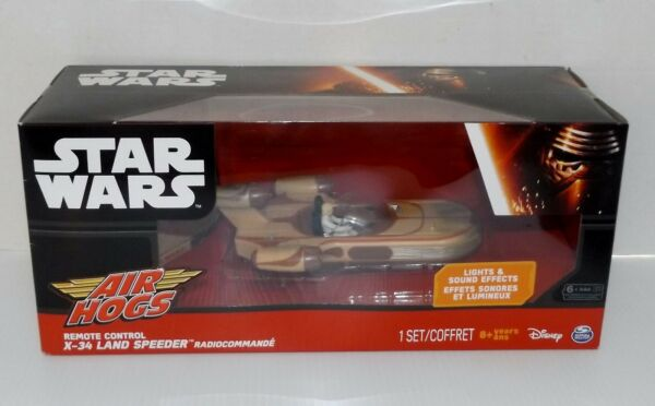 New! Air Hogs Star Wars Remote Control X-34 Land Speeder {4245}