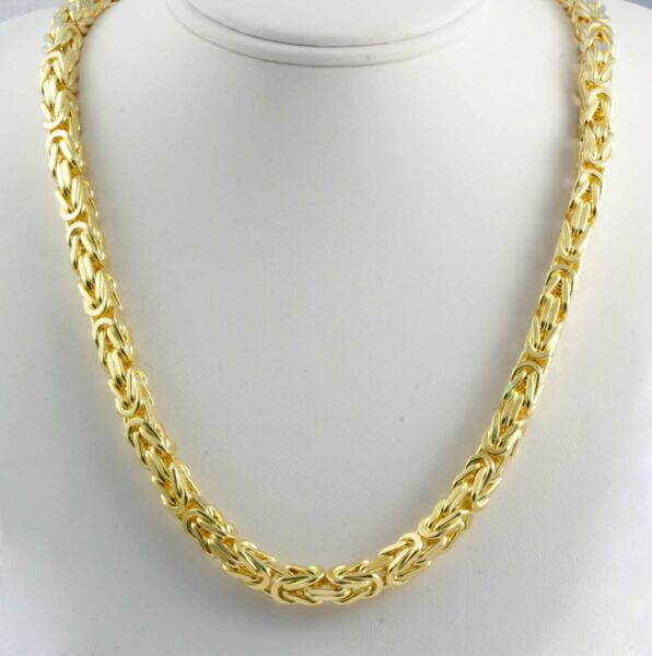 286.70 gm 14k Yellow Solid Gold Men's Women's Byzantine Chain Necklace 28