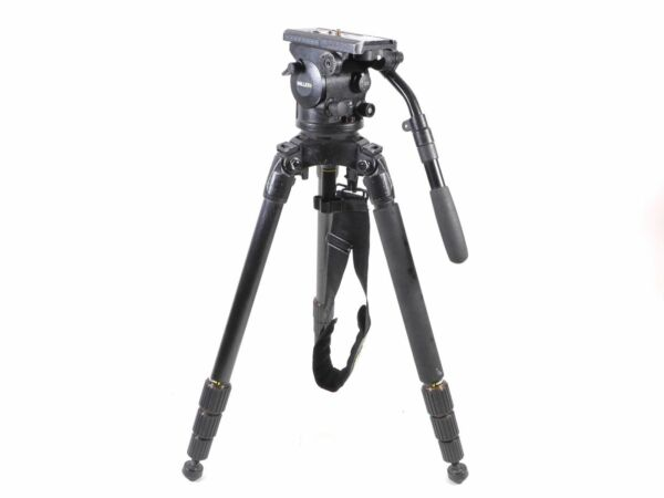 Miller Arrow 40 Head & Carbon Fiber 3 Stage Legs Tripod 100mm 1709 - Up to 35 lb