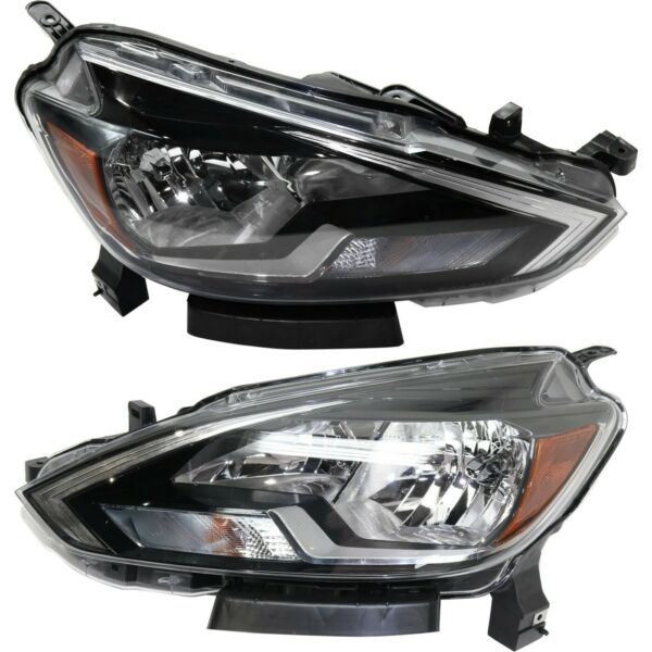 Headlight For 2016 2018 Nissan Sentra Pair Driver and Passenger Side