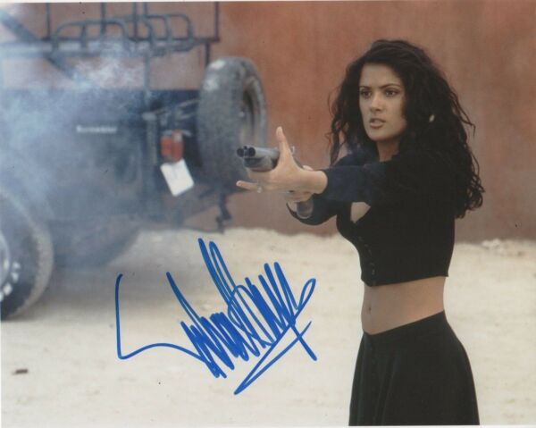 Salma Hayek Desperado Autographed Signed 8x10 Photo COA E5B