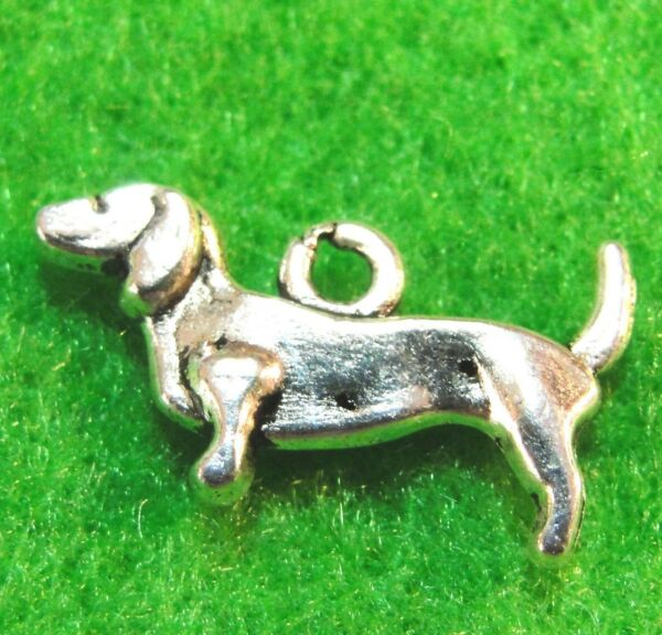 20Pcs. Tibetan Silver DACHSHUND DOG Charms Pendants Earring Drops Findings D30 $7.49