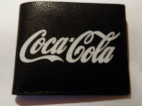 Coca Cola Billfold Artificial Leather Black New