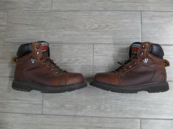 Mens TIMBERLAND Work Boots PRO SERIES Steel Toe 8 M Brown 6quot; $59.95