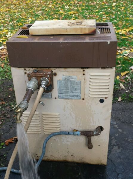 Outdoor Boiler Pool Heater For Parts Wood Boiler Project ?? For Parts Cast Iron? $50.00