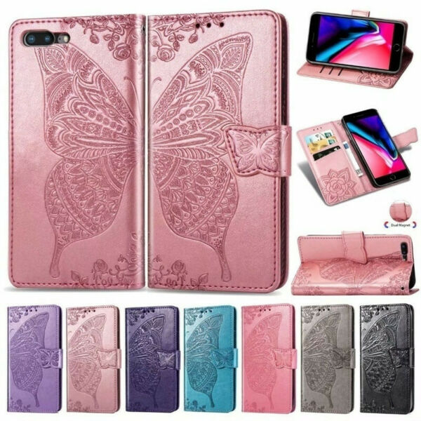 Hot Pattern Magnetic Leather Wallet Case Stand Flip Cover For iPhone 8 X Xs Max $4.99