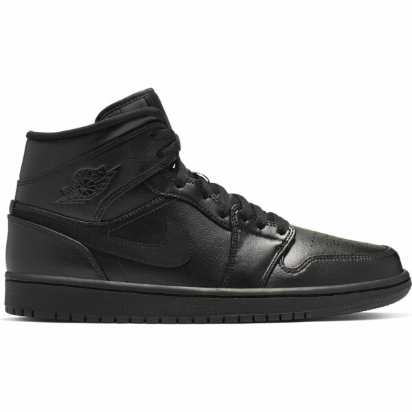 Air Jordan 1 Mid Triple Black 554724-090 Retro Men's NEW IN BOX 2019 SIZE 8-12