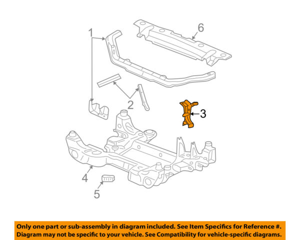 Cadillac GM OEM 03-07 CTS Radiator Core Support-Reinforcement Left 25771544