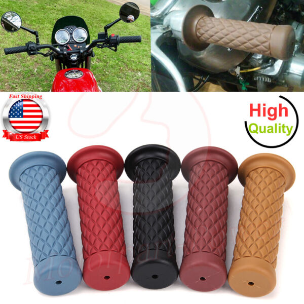 Motorcycle Handlebar Hand Grips Bar End Cafe Racer Universal Clubman 78