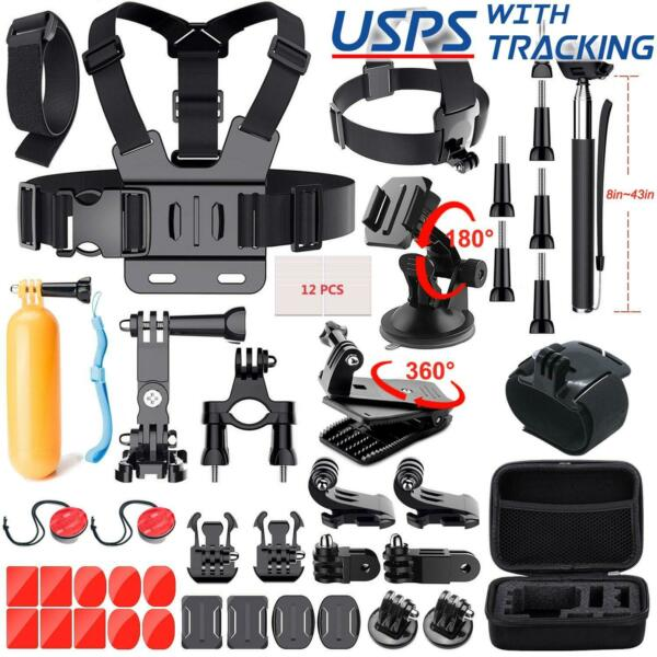 52 PCS Accessories Head Chest Bike Mount Kit for GoPro HERO 5 4 3 Cameras