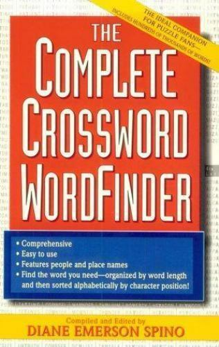 The Complete Crossword Word Finder Spino Diane E. Mass Market Paperback Used -