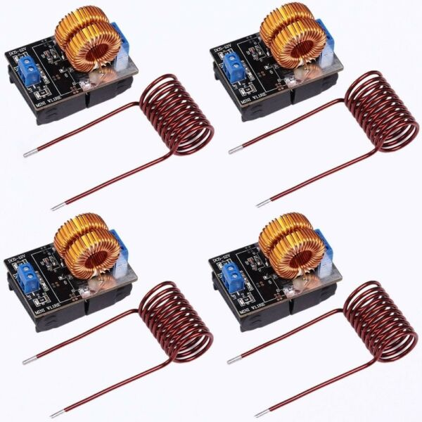 4pcs 150W ZVS Induction Heating Board High Voltage Generator Heater with Coil