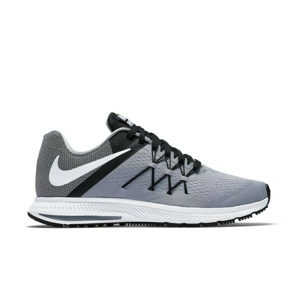 Nike Zoom Winflo 3 Wolf Grey White Mens Running Shoes Sneakers 831561 002