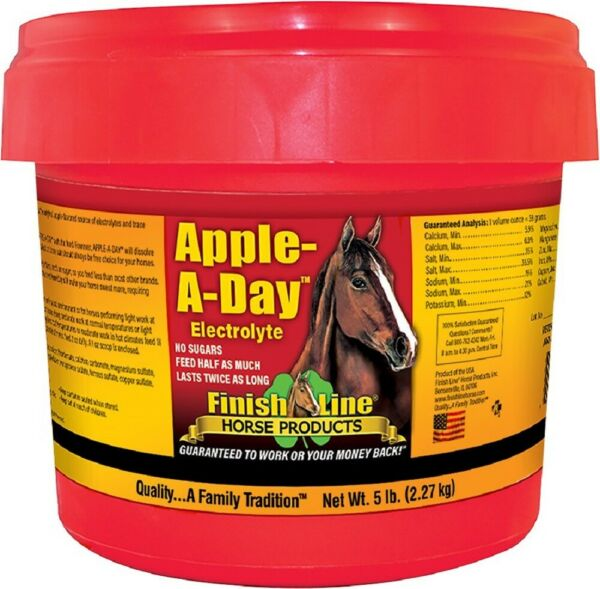 Finish Line Apple-A-Day Flavor Electrolyte Mineral Replacement Powder Supplement