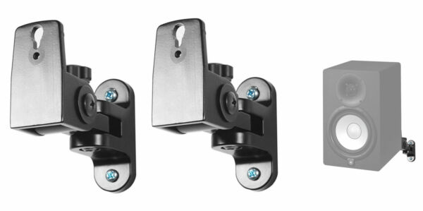 Pair Hidden Wall Swivel Brackets For Yamaha HS7 HS 7 Studio Monitor Speakers $29.95