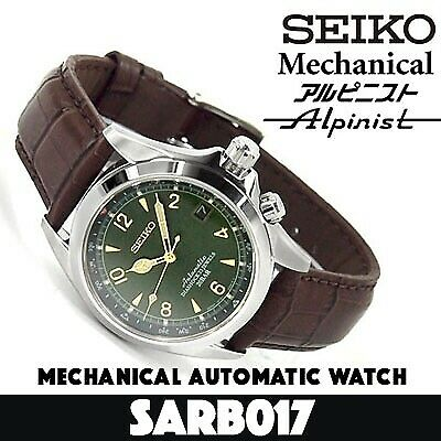 Refurbish SEIKO MECHANICAL Alpinist SARB017 Automatic Men's Watch Made in Japan!