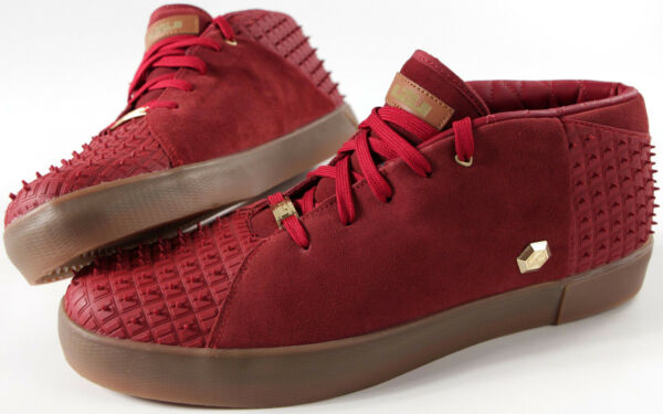NIKE LEBRON XIII NSW Lifestyle Shoes-NEW-Rubber Cty Maroon basketball sneaker