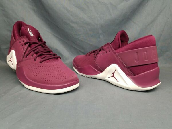 Nike Men's Jordan Flight Fresh Premium Fashion Sneakers Bordeaux Size 10 NEW!