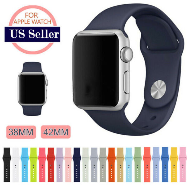 Sports Silicone Band Strap For Apple Watch iWatch Series 1234 38424044mm