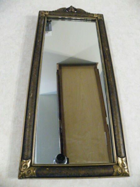 Antique Vintage Wood Painted Wall Mirror FREE SHIP
