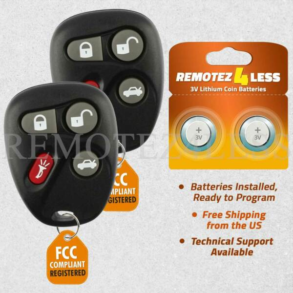2 For 25695954 Keyless Entry Remote Key Fob 2001-2005 Buick Lesabre