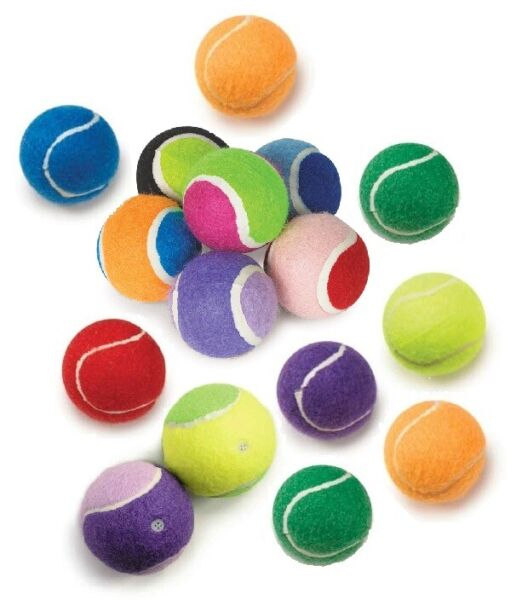 Small Tennis Ball Dog Toys Smaller Breed Puppies Bright Assorted Colors 2