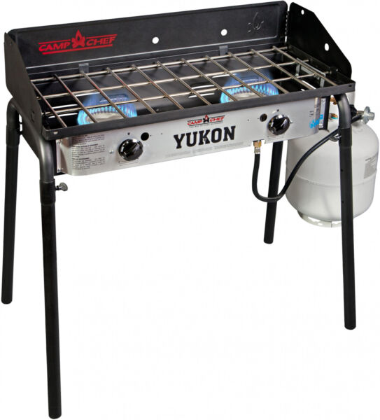 Camp Chef Yukon 2 Gas Burner Stove Outdoor Camping Family Picnic BBQ Birthday