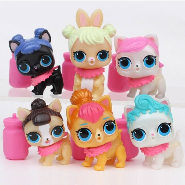 LOL Surprise Dog Doll Doggy Pets for Kids Toy Gift 6 pcs Figures Set wAccessory