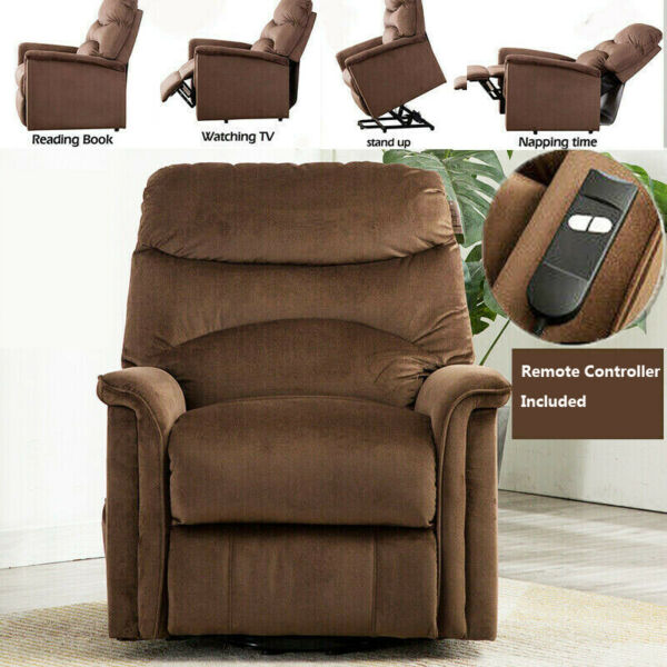 Electric Power Lift Recliner Chair Upgrade Motor Overstuffed Padded Cushion