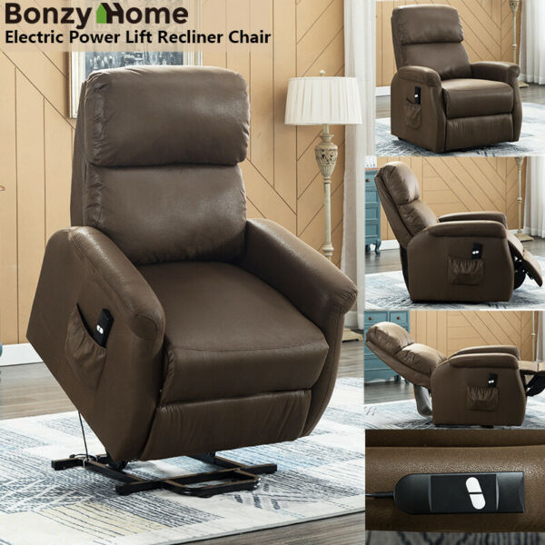 Electric Power Lift Recliner Chair Sofa Upgraded Motor Remote Control for Eldly