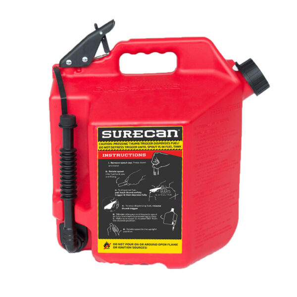 SureCan Easy Pour Rotating Nozzle 5 Gallon Flow Control Gas Container Can Red $48.97