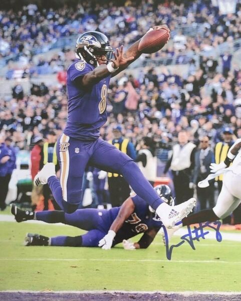 Lamar Jackson Autographed Signed 8x10 Photo ( Ravens ) REPRINT