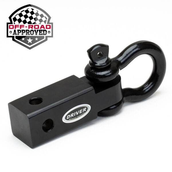 2quot; Trailer Hitch Receiver 3 4quot; D Ring Bow Shackle Heavy Duty Off Road Pulling $23.99