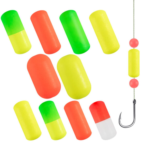 Dr.Fish 30 Fishing Floats Bobbers Foam Spinner Crawler Harness Rig Lure Making $7.99