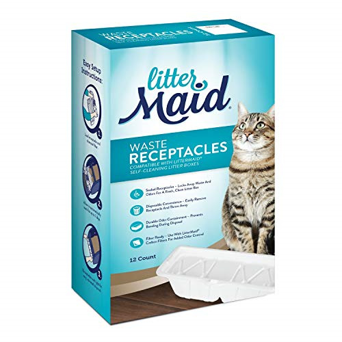 LitterMaid Waste Receptacles Automatic Litter Boxes For 3rd Edition 12 Pack