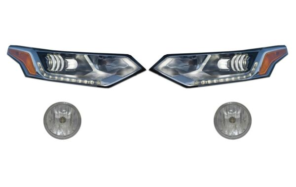 Left Right Genuine LED Headlights Fog Lights Lamps Kit for Chevy Traverse 18 GM
