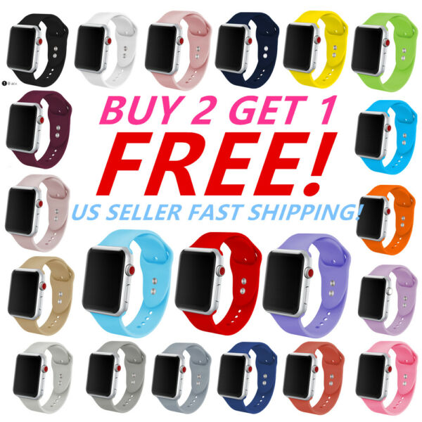 Silicone Band Bracelet Strap Sports Bands For Apple Watch iWatch Series 1 2 3 4