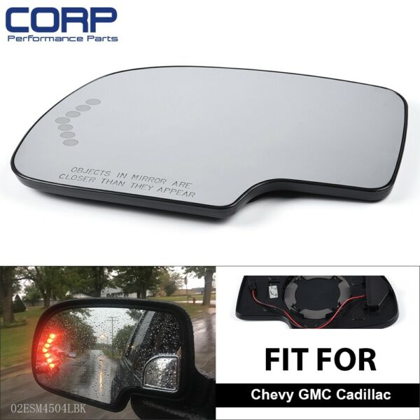 LH Mirror Glass Heated For Chevy Yukon Suburban Avalanche Driver Side Left Hand