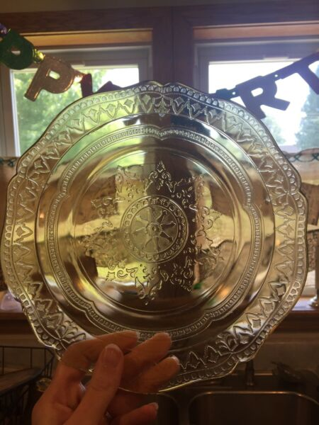 "Vintage Federal ""Amber"" Depression Glass Salad Plate. Circa 1933 1936"