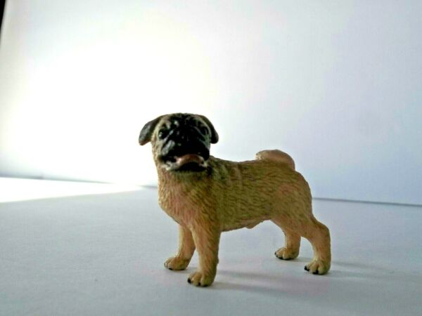 Schleich Pug Dog Male Brown Retired 16381 price reduced $20.00