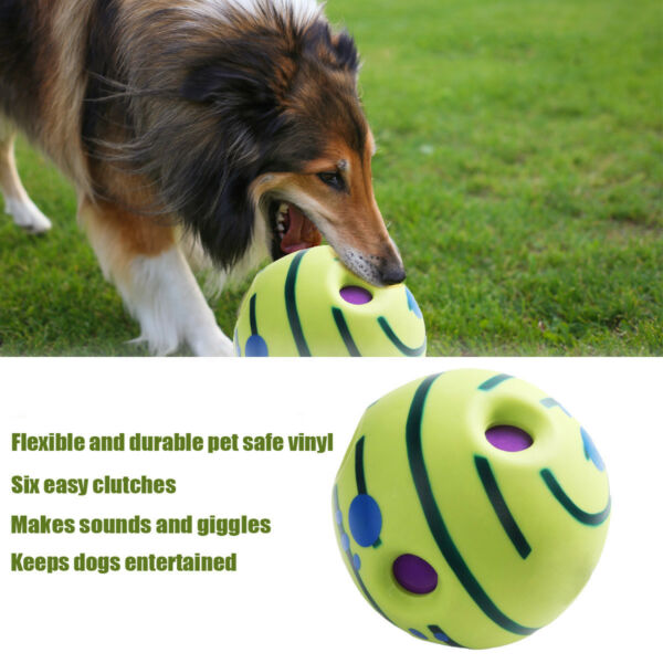 Wobble Wag Giggle Ball Dog Play Ball Training Sport Pet Toys With Funny Sound !