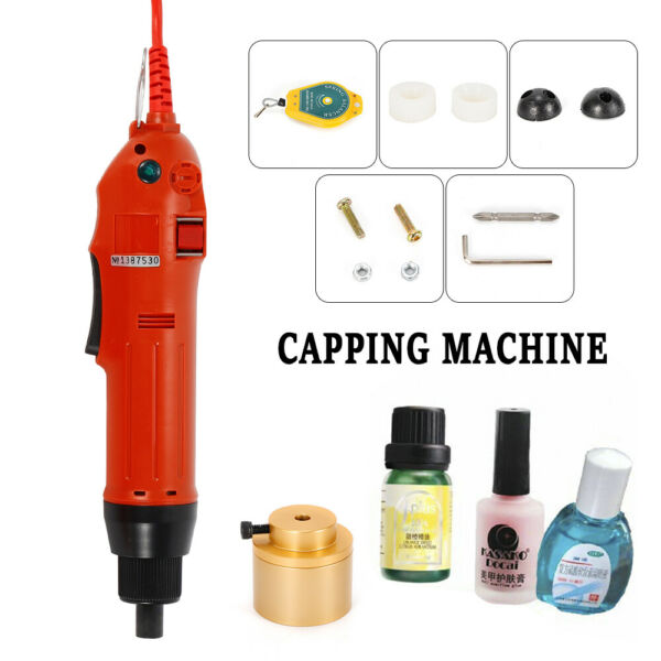 80w Hand-held Electric Capping Machine Quiet Operation Overload Indicator Red