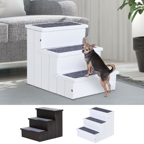 3 Step Wood Carpet Non Slip Pet Stairs Ramp for Cats and Small Dogs $49.99