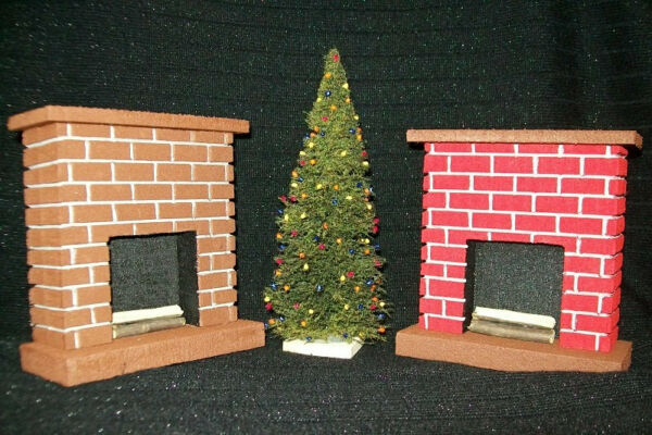 Miniature Fireplace With Real Firewood  Great for Doll House Collections Table