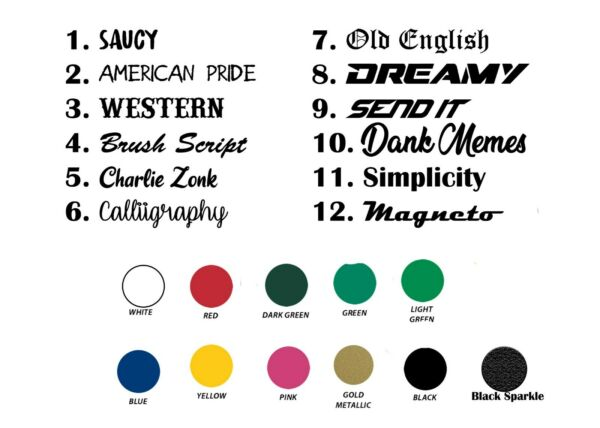 CUSTOM TEXT VINYL DECALS!, Lettering Sticker Decal Personalized, car wall window