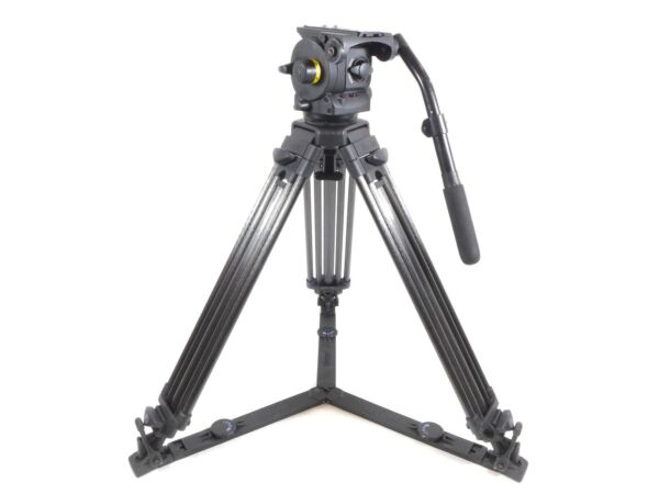 Vinten Vision 100 Fluid Head Tripod Carbon Fiber Legs - 100mm