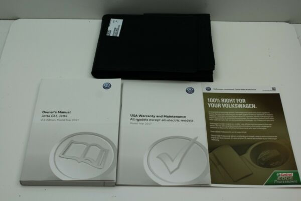 2017 VW JETTA GLi OWNERS MANUAL SET WITH CASE + FREE SHIPPING